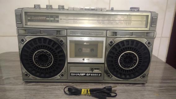 Rádio Gravador Antigo Sharp Gf 6565b Boombox (leia O Anuncio