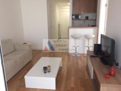 Apartamento Mobiliado Para Locação, Itaim, São Paulo. - Aa15520