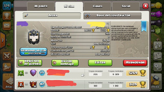 Traspaso Clash Clan Nivel 16