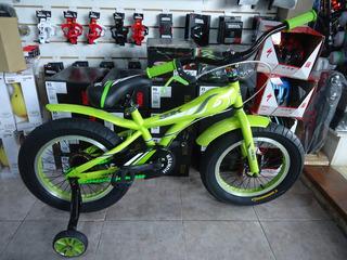 Bicicleta Sbk Fat Rodado 16 Verde - Racer Bikes