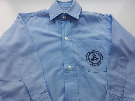 Uniforme Colegio Calasanz Camisa Celeste Varon Talle 6