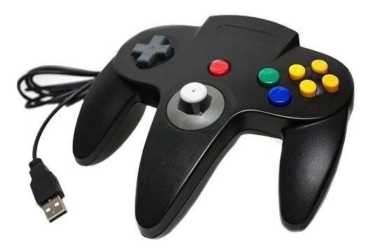 Controle N64 Nintendo 64 Usb Pc Notebook Retrô Joystick