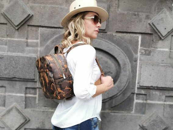 Bolsa Chica Backpack De Piel
