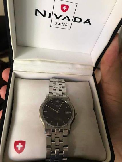 Reloj Nivada Slim Cristal De Safiro