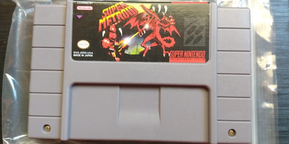 Super Metroid Para Super Nintendo Reprogramado Em Placa Orig