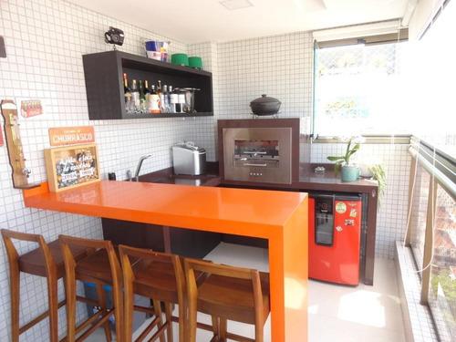 Apartamento Com 3 Dormitórios À Venda, 171 M² Por R$ 1.600.000,00 - Embaré - Santos/sp - Ap4763