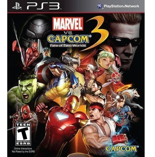 Ps3 Marvel Vs Capcom 3 Fate Of Two Worlds Novo Lacrado