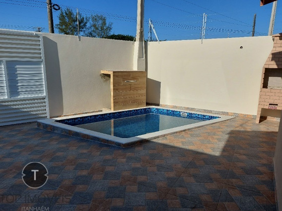 Casa Nova 2 Dormitórios Com Piscina Á Venda Em Itanhaém ,são Paulo,bairro Tupy A 500 Metros Da Praia - Ca00484 - 68304062