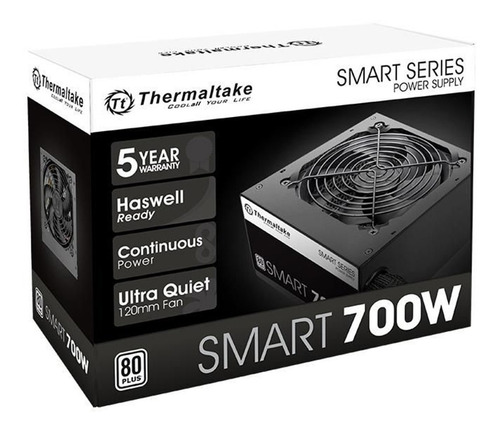 Imagen 1 de 5 de Fuente Pc Thermaltake Smart White 700w 80 Plus