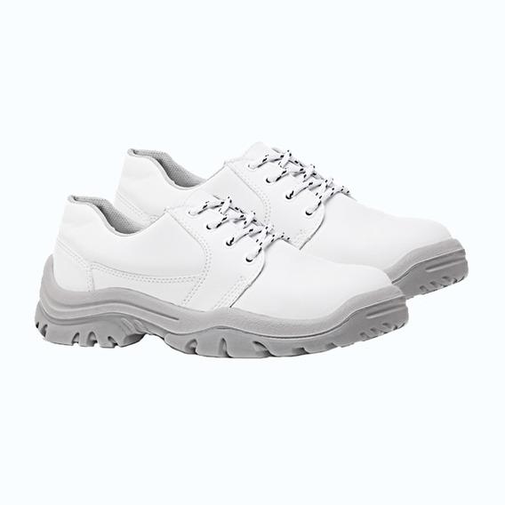 Sapato De Microfibra Branco Enfermagem Medicina Fujiwara