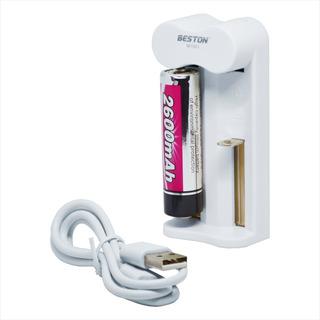 Cargador Usb + Pila Batería Li-ion 18650 3.7v, Beston M7001
