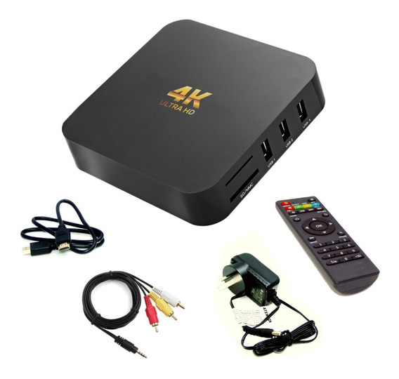 Conversor Smart Tv Android Tv Box Quad Core 4k Mod 2019