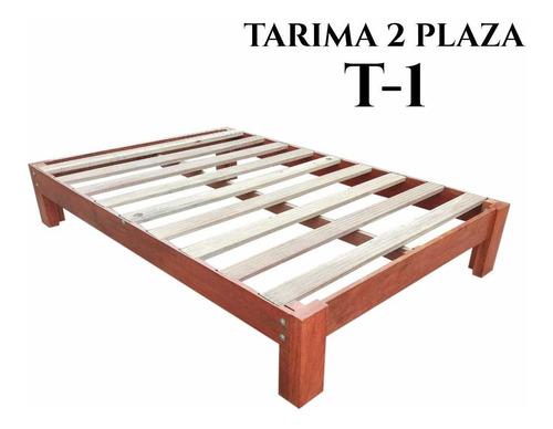 Tarima 2 Plazas,madera Tornillo ,modelo T - 1