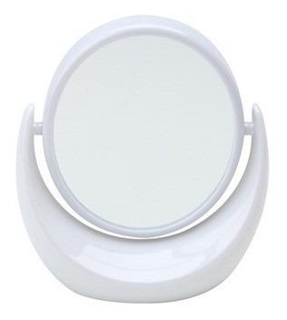 Espelho Com Aumento Dupla Face Com Suporte 360 Graus