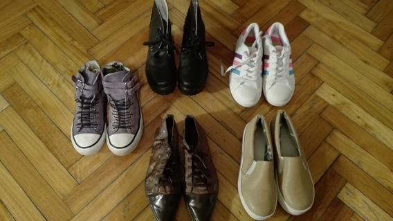 Lote De Zapatos Y Zapatillas De Mujer N° 36 Y 37