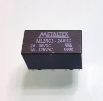 20pç - Rele Metaltex Mini Ml2rc3 24v (3236)