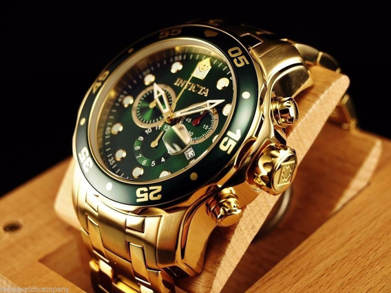 Invicta Pro Diver 0075 - Banhado A Ouro 18k