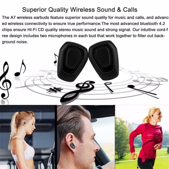 Mini Verdadeira Sem Fio Bluetooth Sports Earbuds Hifi In- Or