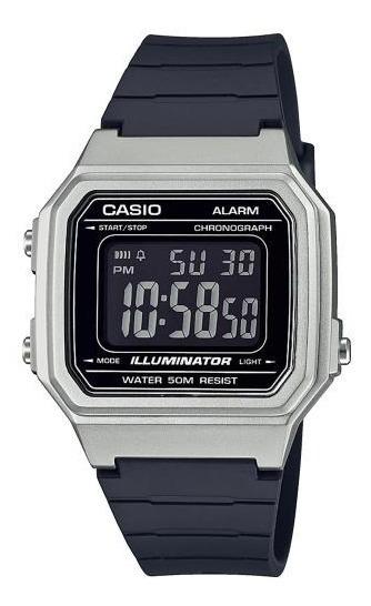 Relógio Casio Masculino Digital W-217hm 7bv Prata Iluminator