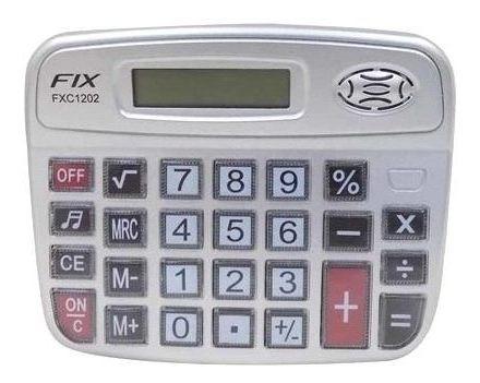 Calculadora De Mesa Eletrônica 8 Digitos Fix Fxc1202