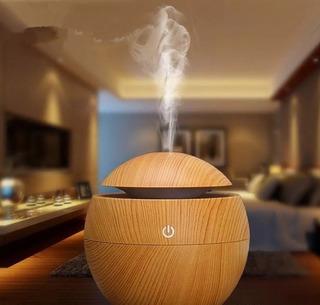 Humidificador Difusor Fragancias Bambu Esfera De Madera