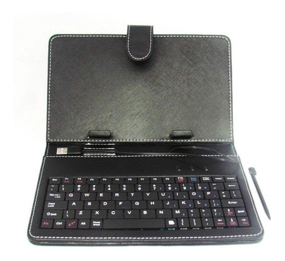 Capa Com Teclado Para Tablet 7 Polegadas - Várias Cores