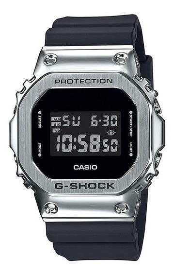 Relógio G-shock Gm 5600 1dr Prata Aço Original Garantia