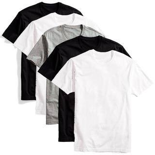 Kit 5 Camisetas Masculinas T-shirt Lisa Sem Estampa