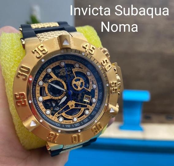 Relógio Invicta Subaqua Noma Original Banhado À Ouro 18k.