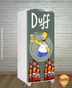 Adesivo Geladeira Duff Homer Simpson Top