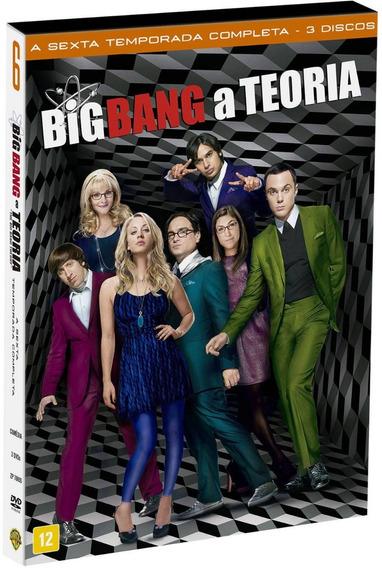 Big Bang A Teoria 6ª Temporada - Box Com 3 Dvds - Novo