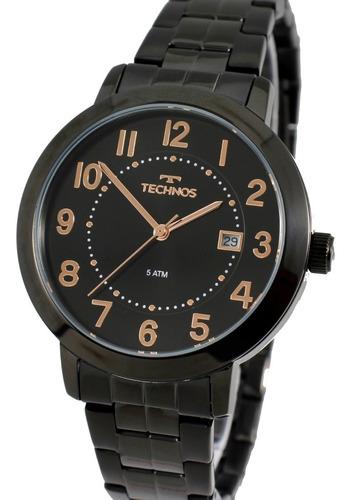Relógio Technos Feminino  Preto 2115mrv/4p
