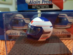 Capacete Alain Prost - Campeão 1989 - Vence Senna - 1:8
