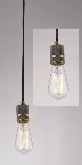 Luminaria Pendente Retro Latão Lampada Retro Vintage Ef3659