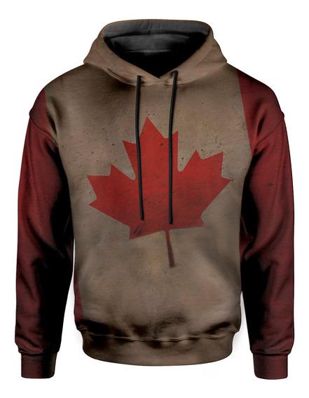 Moletom Com Capuz Unissex Bandeira Canada Maple Md01