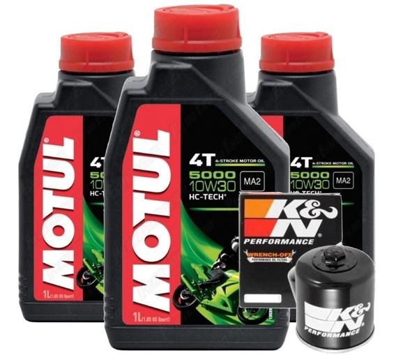 3l Óleo Motul 5000 10w30 Filtro K&n Cb Cbr 600 650 500 1000