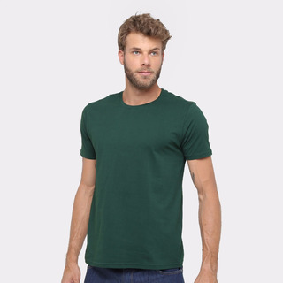 Camiseta Masculina Algodão Básica Camisa Atacado 30.1 Lisa