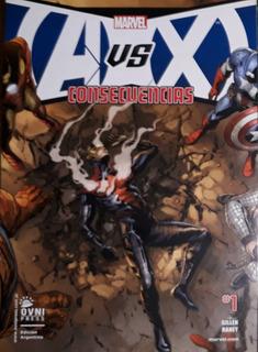 Lote 5 Revistas Avengers Vs. X-men Saga Completa
