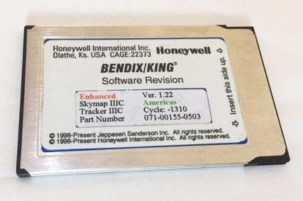 Memoria Data Card Gps Bendix King Skymap Iiic