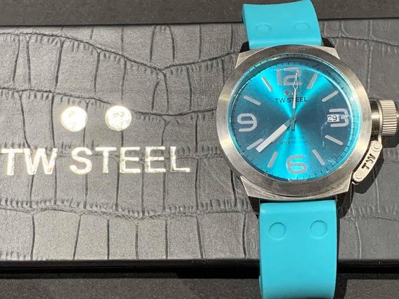 Reloj Tw Steel Canteen Color Turquesa Modelo Tw525