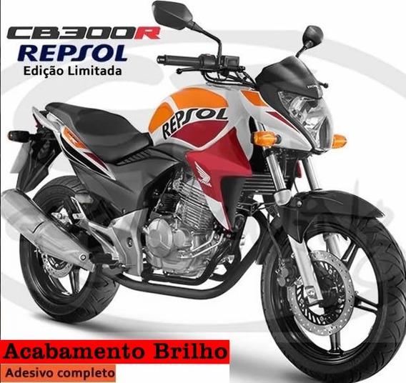 Kit Adesivo Cb 300r Repsol Adesivo Acabamento Brilho