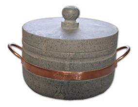 Panela De Pressão De Pedra Sabão Capacidade 4 Litros.