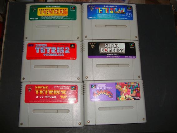 Coleção Saga Tetris Para Super Nes - 6 Jogos Originais