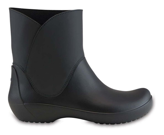 Crocs Bota De Lluvia Rainfloe Bootie C203417 001 Negro Dama