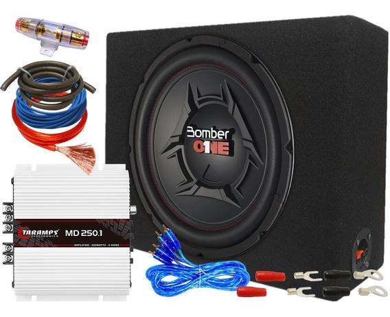Sistema De Audio Car Amplificado 250 Watts Rms 12 Pulgadas