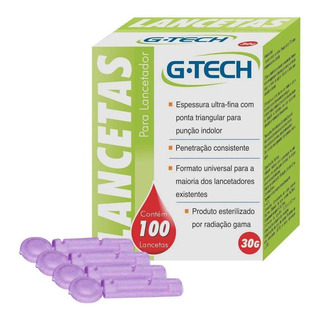 G Tech Lancetas C/100 Unidade