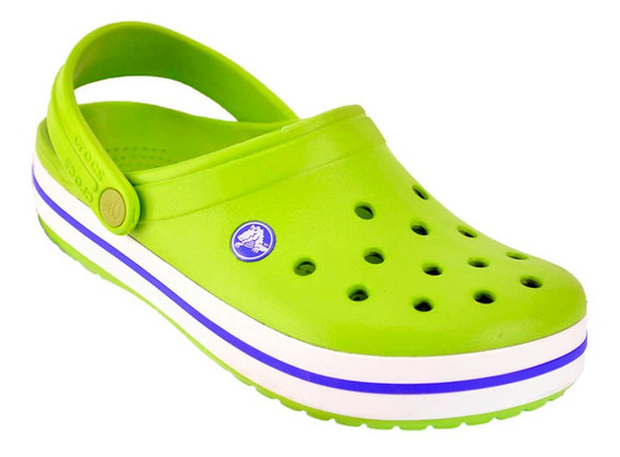 Crocs Originales Sueco Crocband Sandalia Promo Vde/bco