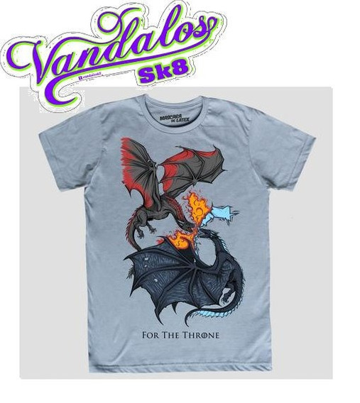 Playera Dragons Got, Mácara De Látex