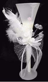 Vela Parafina Enfeite Mesa Grande Festa 15 Anos Flor Branca