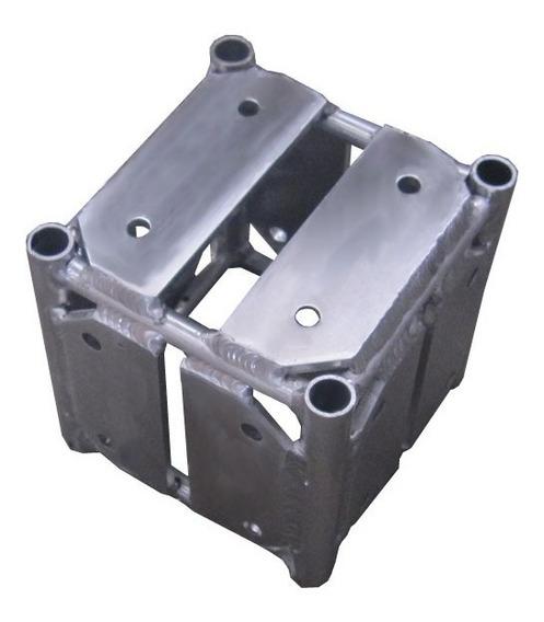 Cubo 5 Faces Al15 P/ Treliça Trave Grid Alumínio Auratec